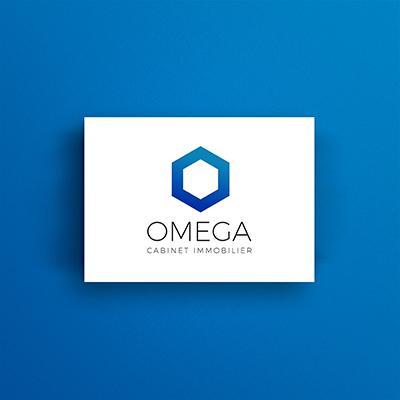 Identité visuelle du cabinet immobilier Omega
