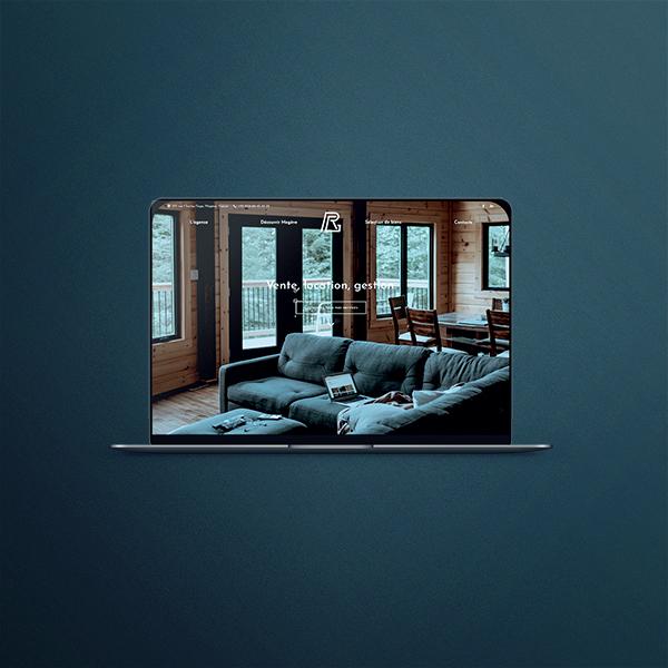 Identité visuelle et site web de Ravello Immobilier